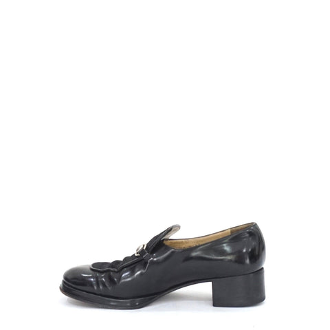 Gucci Black Leather-Pony Loafers 7