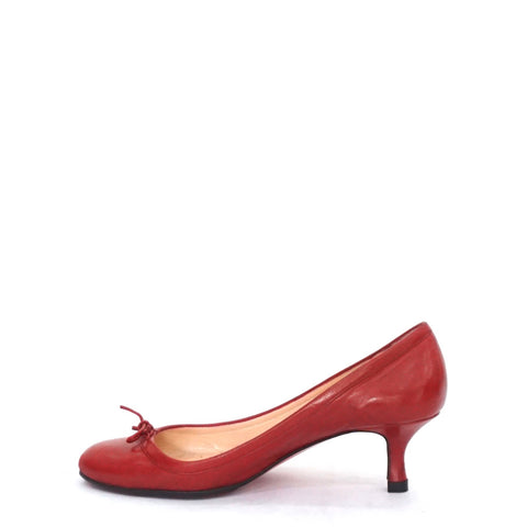 Christian Louboutin Red Kitten Pumps 38