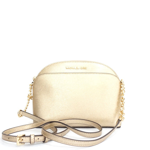 Michael Kors Pale Gold Emmy Crossbody Bag