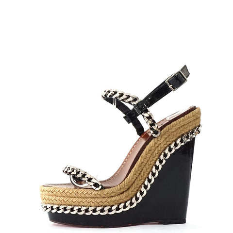 Christian Louboutin Black Espadrilles Wedges 35