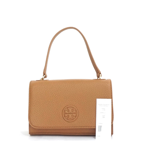 Tory Burch Brown Bombe Shrunken Shoulder/Crossbody Bag