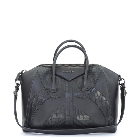 Givenchy Antigona Black Croco Embossed
