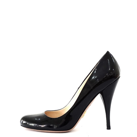 Prada Black Patent Pumps 38