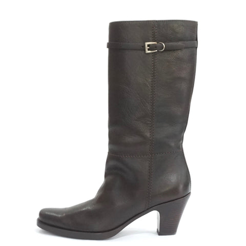Prada Brown Leather Boots 37