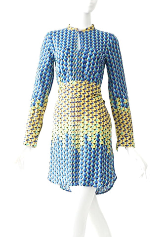 Marc by Marc Jacobs Blue Yellow Print Dress 0