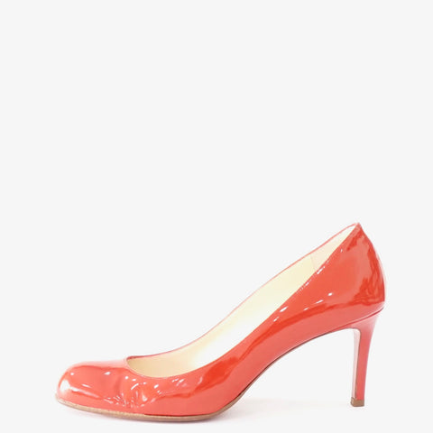 Christian Louboutin Red Patent Pump Shoes 38
