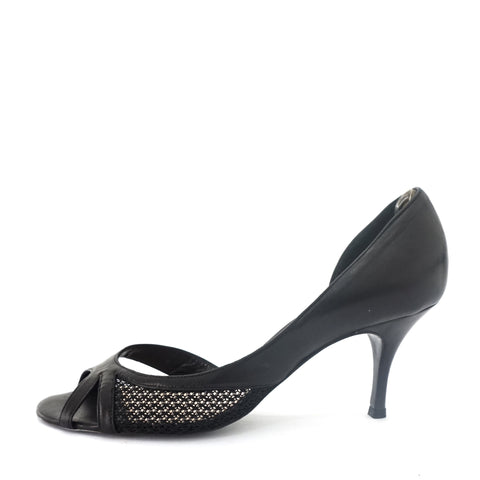 Chloe Black Peeptoe Shoes 38
