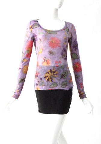 Etro Long Sleeves Flower Tshirt 12
