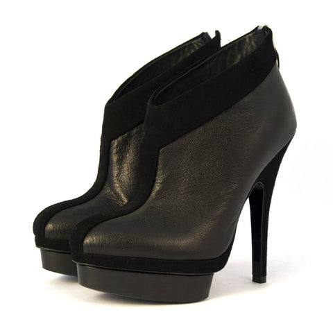 f597451925f6 YSL Black Suede And Leather Ankle Boots 35.5 – The Brand Buffet