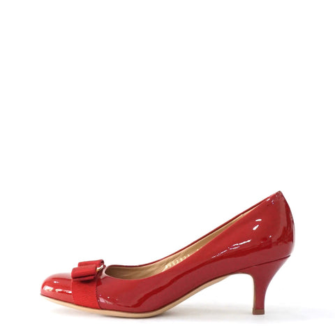Salvatore Ferragamo Red Patent Pumps 7