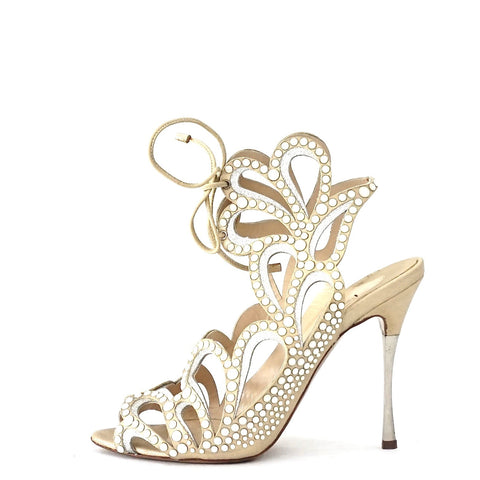 Nicholas Kirkwood Beaded Strappy Sandals 37