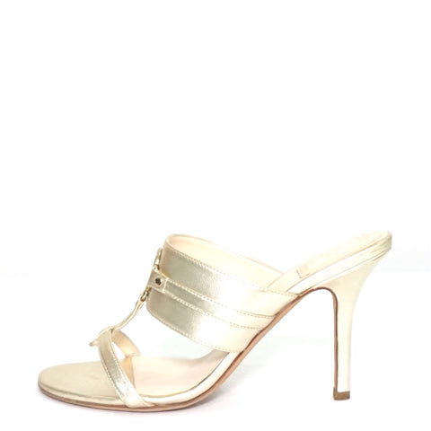 Christian Dior Gold Sandals 38