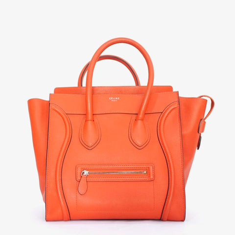 Celine Luggage Vermillion Red