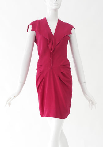 Roland Mouret Fuschia Dress