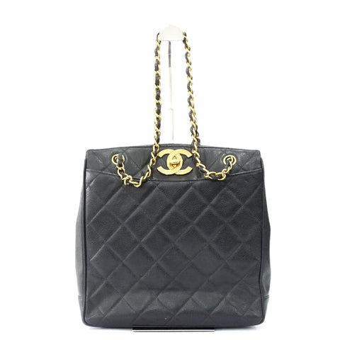 Chanel Black Caviar Vintage Shoulder Bag