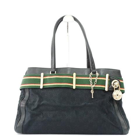 Gucci Monogram Canvas Black Tote Bag