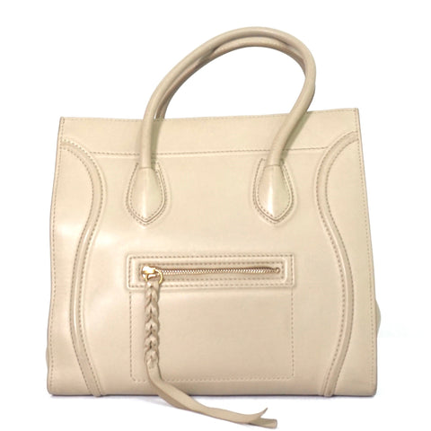 Celine Taupe Cabas Phantom Soft Leather Bag
