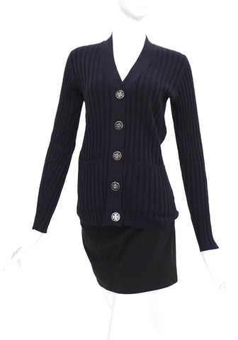 Tory Burch Black Knit Cardigan XS
