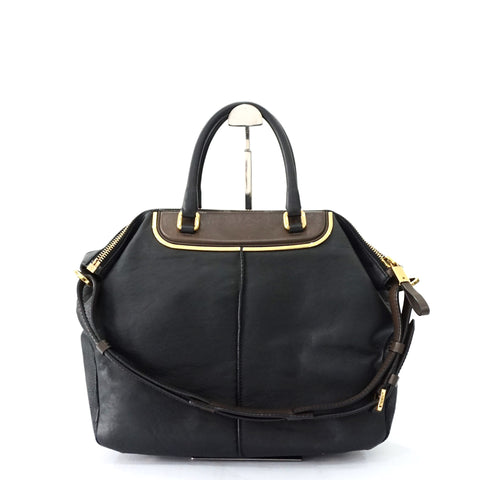 Tods Black Shoulder Tote Bag
