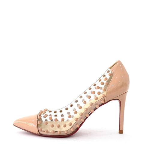 Christian Louboutin Beige Spike Pumps 37