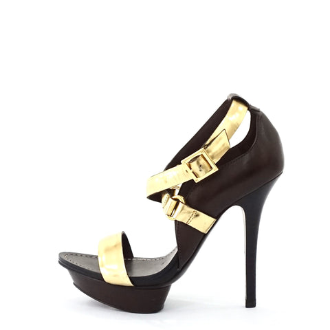 Tory Burch Gold Strappy Sandals 7.5 M