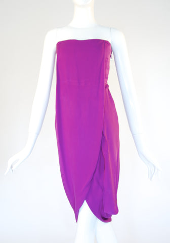 Maxazria Purple Chiffon Dress (Size 0)