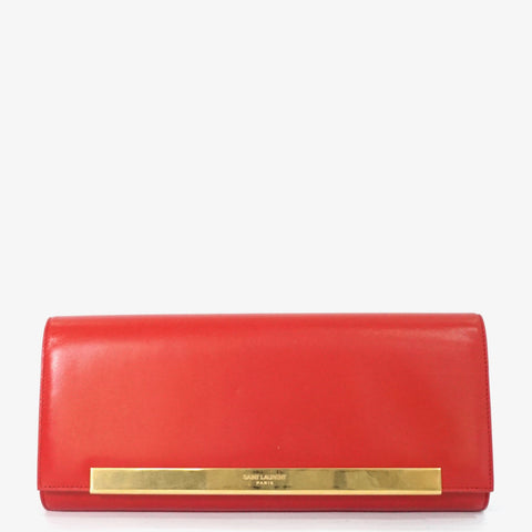 Saint Laurent Red Lutetia Clutch