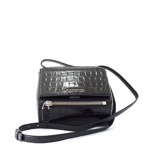 Givenchy Black Croco Embossed Pandora Box