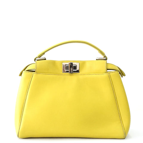 Fendi Mini Peekaboo Yellow Bag