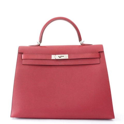 Hermes Kelly 35 Sellier in Ruby Epsom PHW