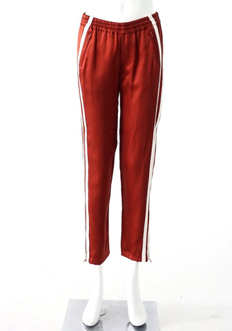Adam Lippes Terracota Silk Pants XS
