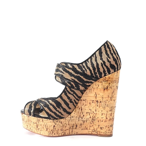 Christian Louboutin Melides Tiger Wedges 37.5