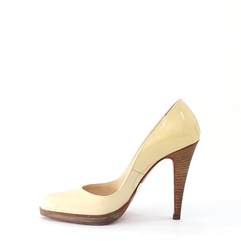 Christian Louboutin Nude Patent Pumps 36