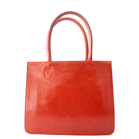 Furla Red Tote Bag