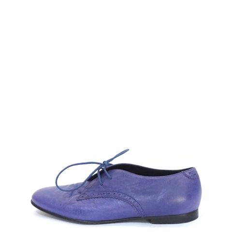 Balenciaga Purple Oxford Lace-Up Shoes 37