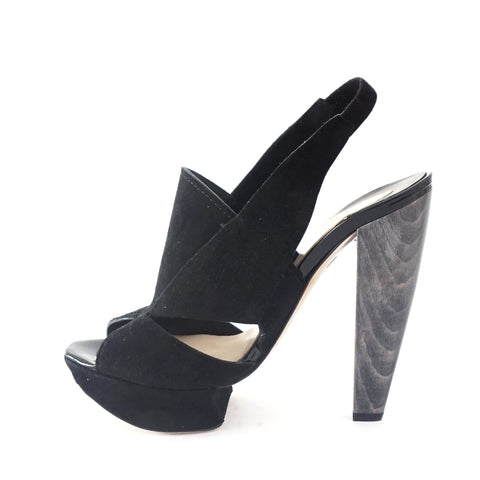 Nicholas Kirkwood Black Sandals 36