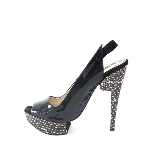 Nicholas Kirkwood Black Peep Toe Sandals 36