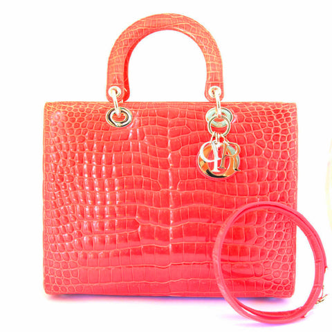Christian Dior Bougenville Lady Dior Croco