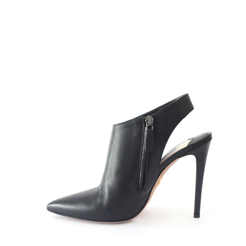 Prada Black Pointy Sling Back Ankle Boots 36