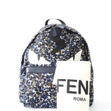 Fendi Monster Eyes Multicolor Blue Black Printed Backpack