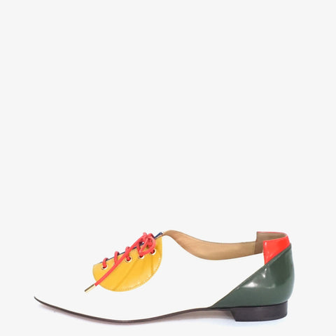 Charlotte Olympia Color Block Lace-Up Modern Brogues 36