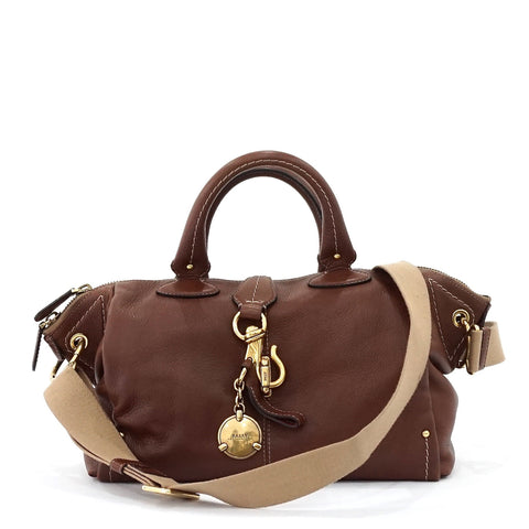 Bally Brown Leather Satchel Bag