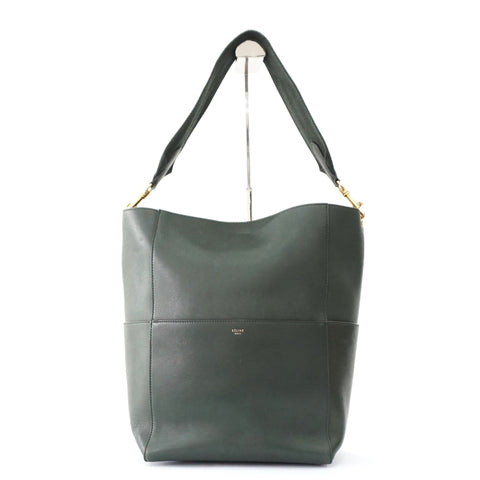 Celine Forest Green Seau Sangle Bag