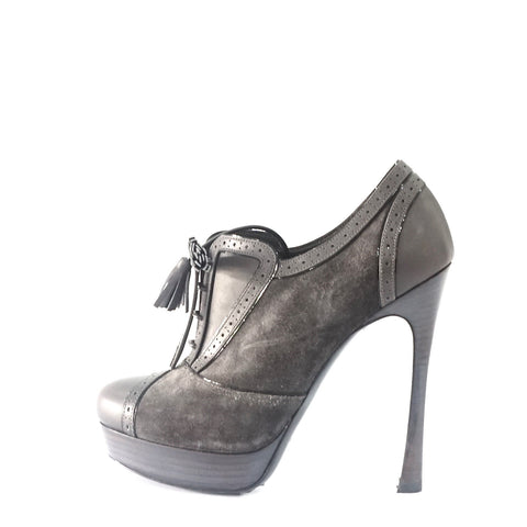 YSL Grey Ankle Boots 35.5