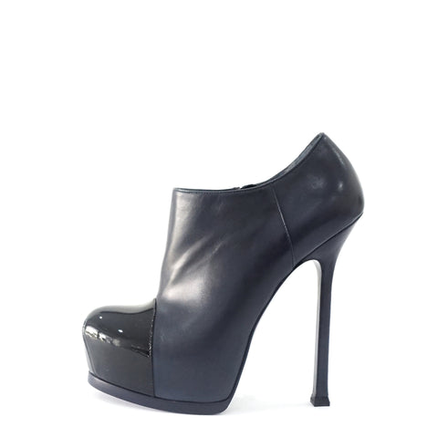 Yves Saint Laurent Dark Blue Ankle Boots 36