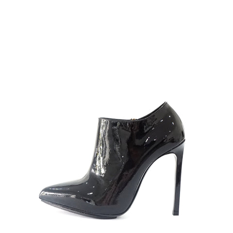 Saint Laurent Black Patent Pointy Ankle Boots 35.5