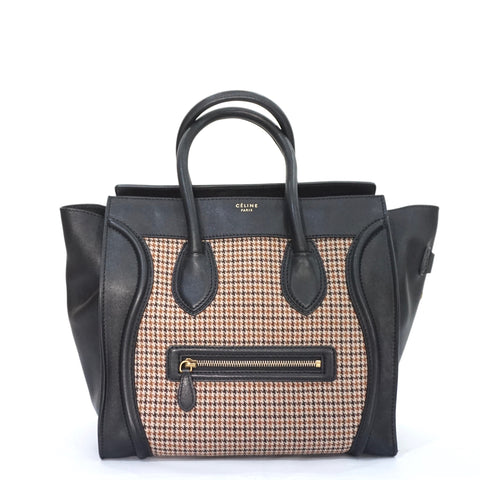 Celine Houndstooth Mini Luggage