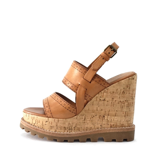 Marc by Marc Jacobs Brown Leather Wedge Sandals 35