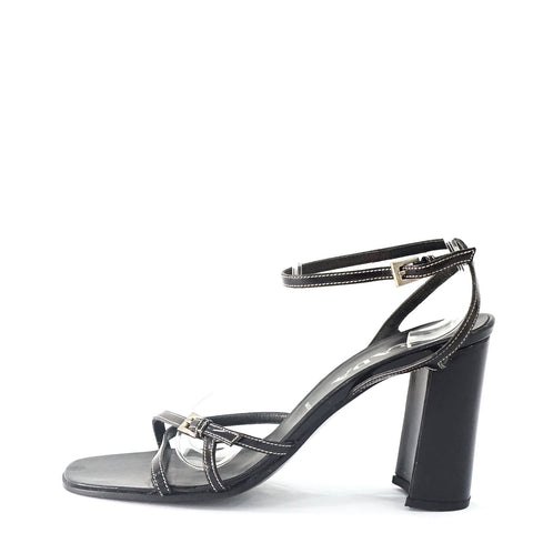 Prada Black Strappy Sandals 38