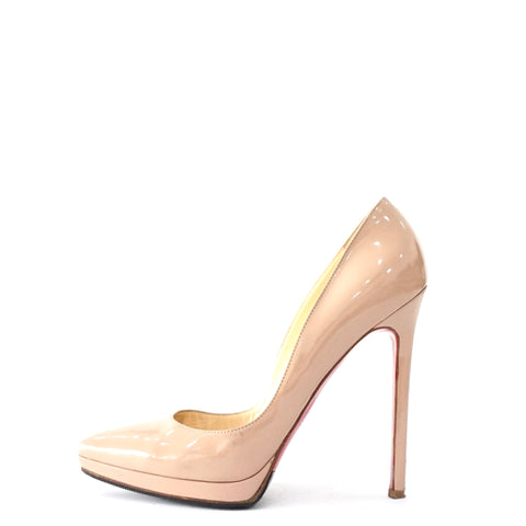 Christian Louboutin Nude Pointy Pumps 38.5